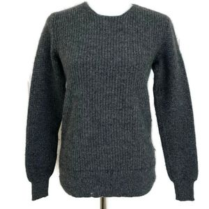 All Saints Women's Gray Knit Wool Blend Sweater